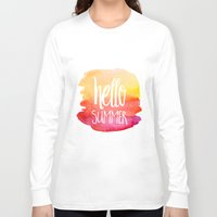xbox Long Sleeve T-shirts featuring Hello Summer by Text Guy