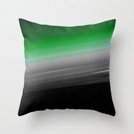 Green Gray Black Ombre Throw Pillow