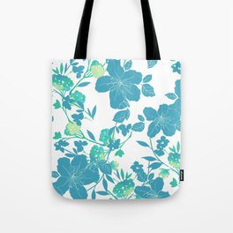 Botanical Blues Tote Bag
