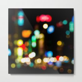 Shibuya Bokeh Lights Metal Print