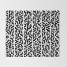 Black and White Abstract I Throw Blanket