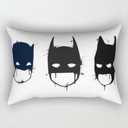 Three Batmen Rectangular Pillow
