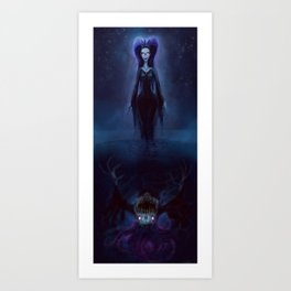 The Puddle Queen Art Print