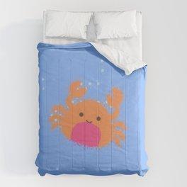 Orange Cartoon Crab Comforters