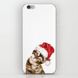 Christmas Baby Cat iPhone Skin