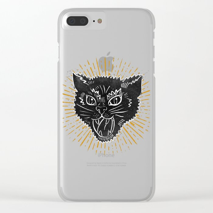 kitty attack Clear iPhone Case
