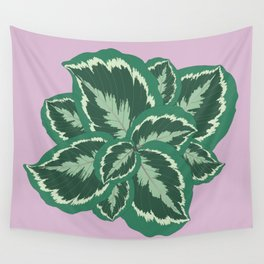 Tropical leaves of calathea Wall Tapestry
