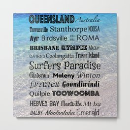 Queensland Poster Metal Print