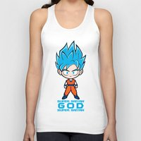 goku Tank Tops featuring Goku SSGSS by LoonyLand