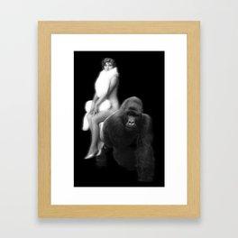Human on My Back Framed Art Print