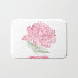 Botanical Brushstrokes ● Peony Pastel Bath Mat