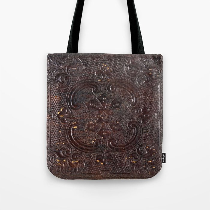 Ancient Leather Book Tote Bag