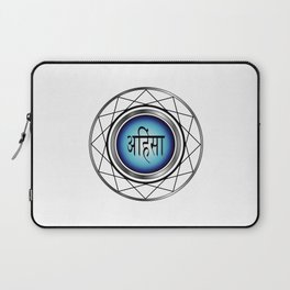 AHIMSA- non violence- typography in hindi means peace in Hindu,Buddhist and Jain Laptop Sleeve