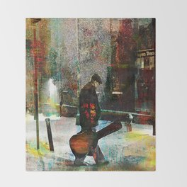 The guitarist Throw Blanket