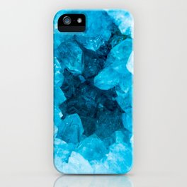 Blue Geode Crystal iPhone Case