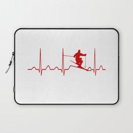SKIING MAN HEARTBEAT Laptop Sleeve