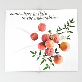 Call Me By Your Name - Inscription Throw Blanket