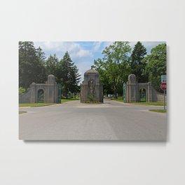 Calvary Cemetery Gate I Metal Print
