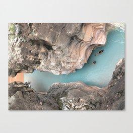 Where blue meets brown Canvas Print