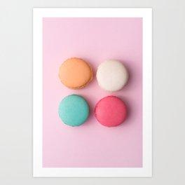 Pink Macaroons Art Print
