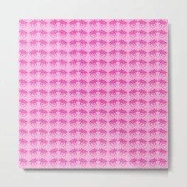 Pink Dinosaur Triceratops Pattern Metal Print