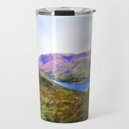 View Down to Buttermere, Lake District, UK Watercolour Painting Travel Mug