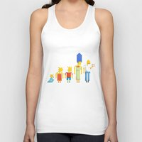 simpsons Tank Tops featuring  The Simpsons by LOVEMI DESIGN
