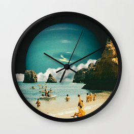 Space Beach Wall Clock