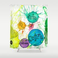 et Shower Curtains featuring Et Cetera by Art by Kaitlyn Alyse