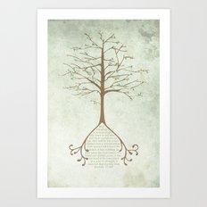 Jeremiah 17:7&8 Art Print