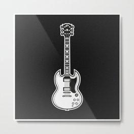 Gibson SG Metal Print