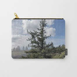 Gnarled Tree Against Blue Sky and Clouds, Beautiful Landscape of Old Tree Carry-All Pouch