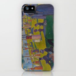 A Sunday Afternoon on the Island of La Grande Jatte Painting by Georges Seurat Pointillism iPhone Case
