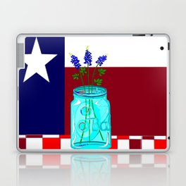 Texas Flag and Blue Bonnets Laptop & iPad Skin