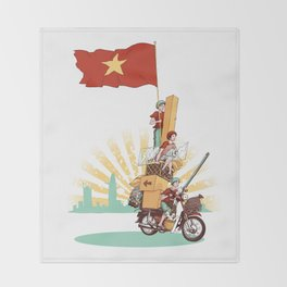 Vietnamese Transport Throw Blanket