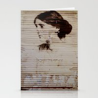 virginia Stationery Cards featuring Virginia Woolf by sustici