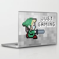 gaming Laptop & iPad Skins featuring JUST GAMING by Edgar
