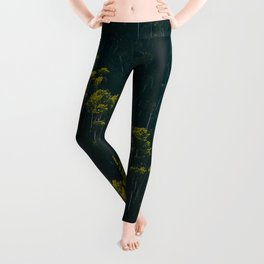 Aerial View OF Green Forest Tall Trees Leggings