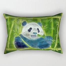 abstract panda Rectangular Pillow