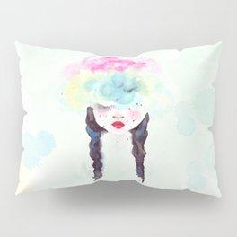Creative mind Creative soul - watercolors girl Pillow Sham