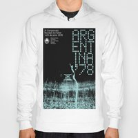 world cup Hoodies featuring World Cup: Argentina 1978 by James Campbell Taylor