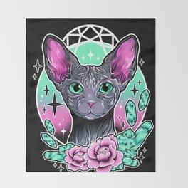 Sphynx Cat Throw Blanket