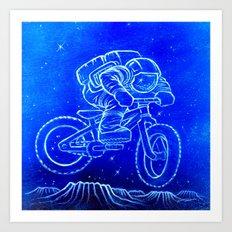 Astronaut Bicycle 2 Art Print