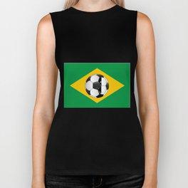 Brazil Football Flag Biker Tank