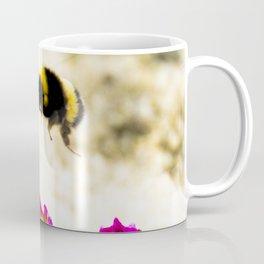 the flight of bumble bee on the dunes I Coffee Mug
