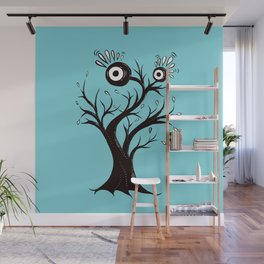 Weird Tree Monster Ink Drawing Wall Mural