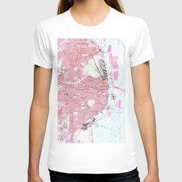 Vintage Map of Mobile Alabama (1953) T-shirt