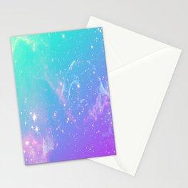 galaxy pastel Stationery Cards