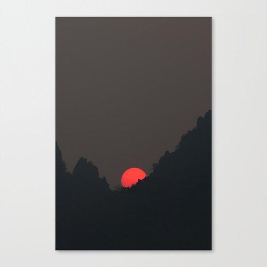 Vang Vieng Sunset (portrait) Canvas Print