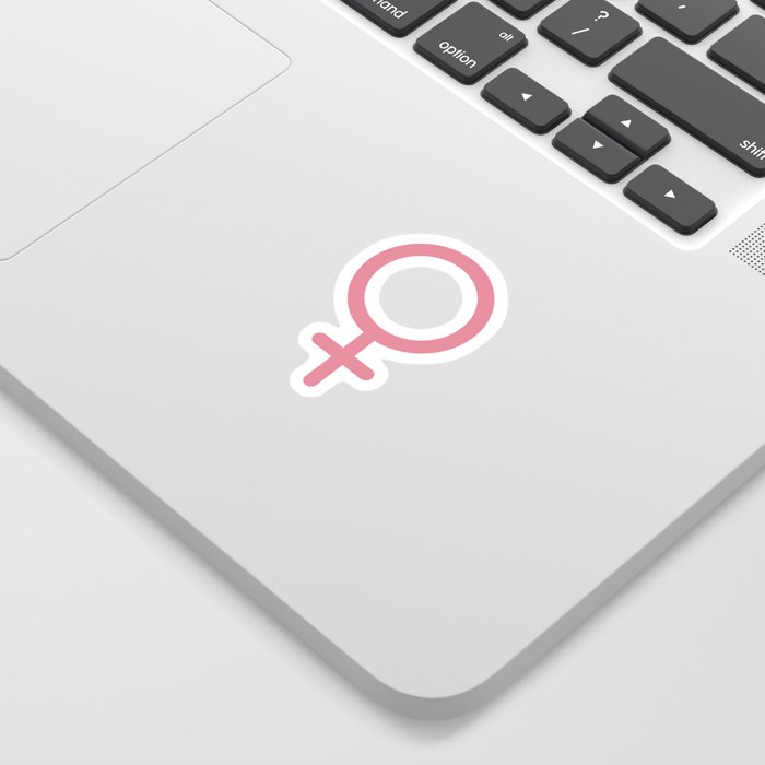 Female Gender Symbol Sticker - Colour Sticker